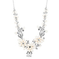 Alan Hannah Devoted - Designer pearl blossom crystal wrap necklace