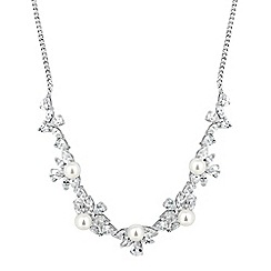 Alan Hannah Devoted - Designer pearl and cubic zirconia cluster necklace