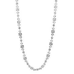 Alan Hannah Devoted - Designer silver leaf and flower crystal necklace