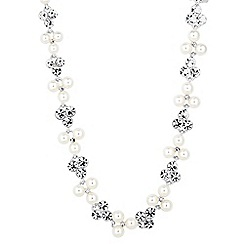 Jon Richard - Pearl and round crystal allway necklace