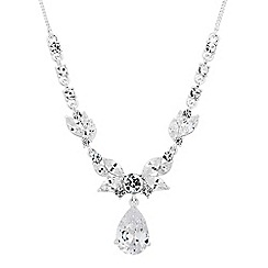 Jon Richard - Silver cubic zirconia peardrop y necklace