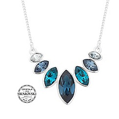 Jon Richard - Blue graduated crystal necklace MADE WITH SWAROVSKI CRYSTALS
