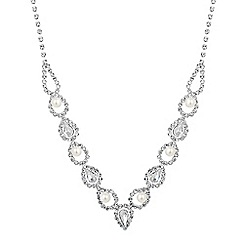 Jon Richard - Pearl and crystal open link allway necklace