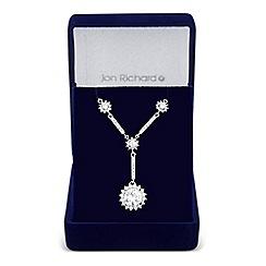 Jon Richard - Allure Collection Silver cubic zirconia clara y necklace