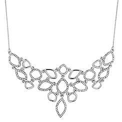 Jon Richard - Open ring pave drop necklace