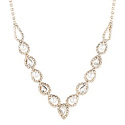 Jon Richard - Gold crystal diamante and pearl necklace