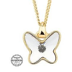 Jon Richard - Gold crystal butterfly necklace MADE WITH SWAROVSKI CRYSTALS