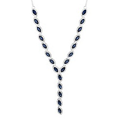 Jon Richard - Blue navette crystal y necklace
