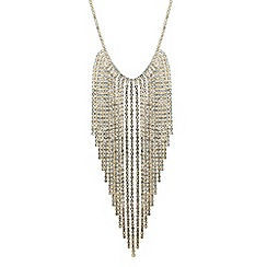 Jon Richard - Gold graduated diamante tassel shower necklace