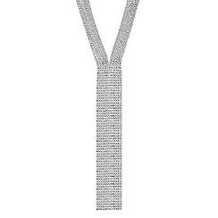 Jon Richard - Silver diamante long multi row necklace