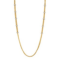 Jon Richard - Gold multi chain pave station necklace