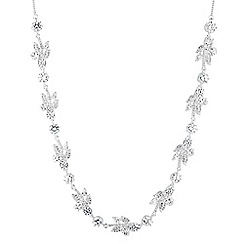 Alan Hannah Devoted - Designer silver star cubic zirconia statement necklace