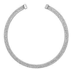 Jon Richard - Silver diamante collar necklace