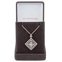 Jon Richard - Graduated square pendant necklace