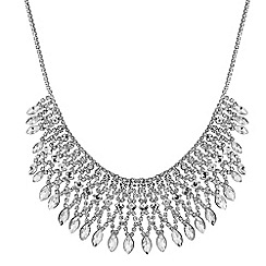 Jon Richard - Silver diamante collar necklace