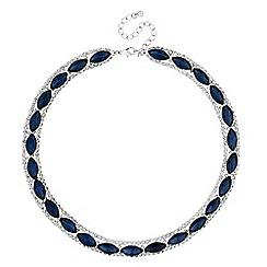 Jon Richard - Blue navette crystal allway necklace