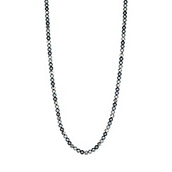 Jon Richard - Grey tonal pearl and bead long necklace