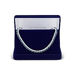 Jon Richard - Blue cubic zirconia allway necklace