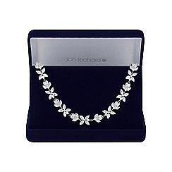 Jon Richard - Silver floral choker necklace