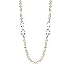 Jon Richard - Cream pearl long necklace