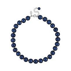 Jon Richard - Navy pearl classic necklace