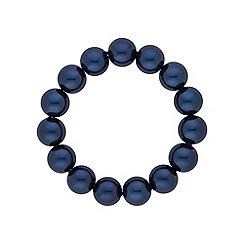 Jon Richard - Navy pearl classic stretch bracelet