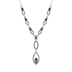 Jon Richard - Interlinked navette necklace