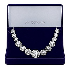 Jon Richard - Silver graduated circle necklace