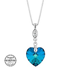Jon Richard - Bermuda blue heart necklace MADE WITH SWAROVSKI CRYSTALS