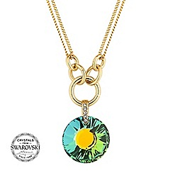 Jon Richard - Green circle link necklace MADE WITH SWAROVSKI CRYSTALS.