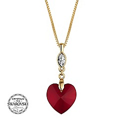 Jon Richard - Red heart necklace MADE WITH SWAROVSKI CRYSTALS