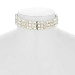 Jon Richard - Triple row pearl choker necklace