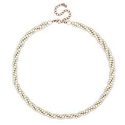 Jon Richard - Cream pearl twist necklace