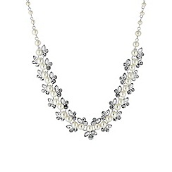 Alan Hannah Devoted - Silver botanical pearl allway necklace