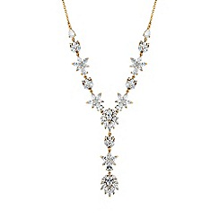 Alan Hannah Devoted - Rose gold cubic zirconia floral necklace
