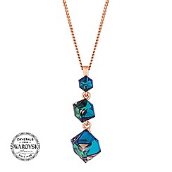 Jon Richard - Cube drop necklace MADE WITH SWAROVSKI CRYSTALS