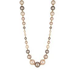 Jon Richard - Champagne pearl statement necklace