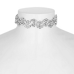 Jon Richard - Silver diamante wave choker