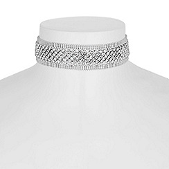 Jon Richard - Silver crystal diamante choker