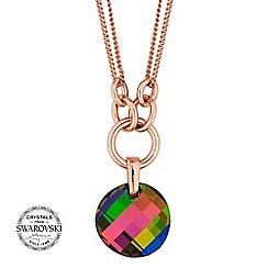 Jon Richard - Multi colour disc necklace MADE WITH SWAROVSKI CRYSTALS