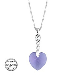 Jon Richard - Lilac heart necklace MADE WITH SWAROVSKI CRYSTALS
