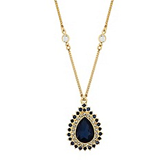 Alan Hannah Devoted - Crystal peardrop necklace