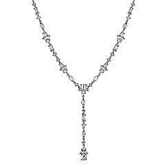 Jon Richard - Silver cubic zirconia droplet y necklace
