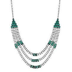 Jon Richard - Green crystal statement necklace
