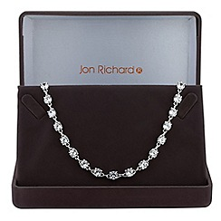 Jon Richard - Silver cubic zirconia tennis link necklace