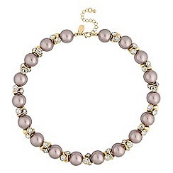 Jon Richard - Mink pearl and crystal necklace