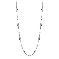 Alan Hannah Devoted - Designer silver filigree pearl long necklace