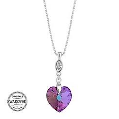 Jon Richard - Vitrial heart necklace MADE WITH SWAROVSKI CRYSTALS