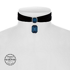 Jon Richard - Blue crystal baguette choker necklace MADE WITH SWAROVSKI CRYSTALS