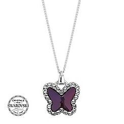 Jon Richard - Lilac butterfly necklace MADE WITH SWAROVSKI CRYSTALS